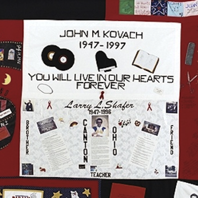 A square from the AIDS Quilt