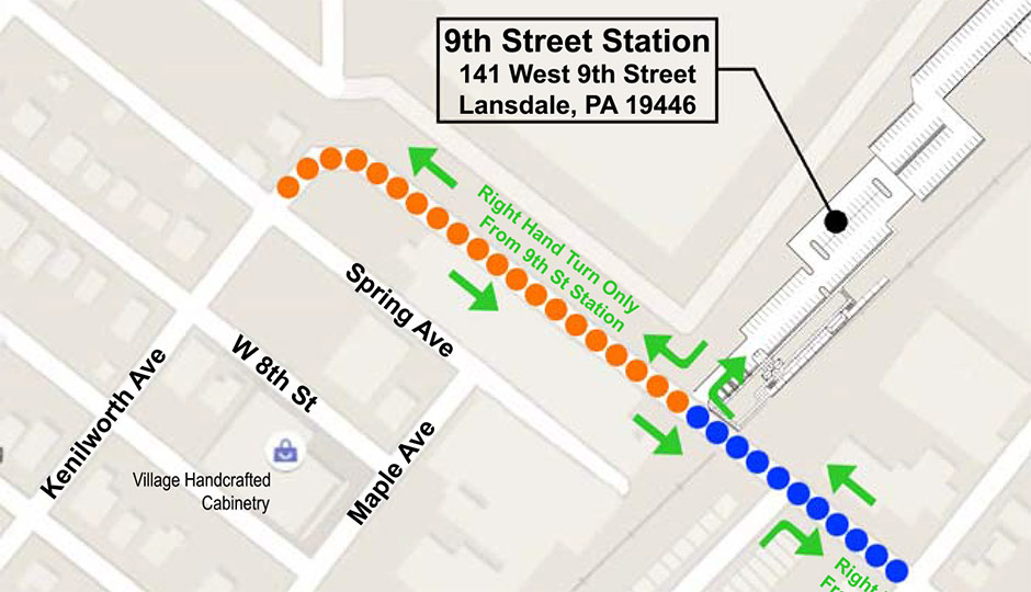 SEPTA - 9th Street Lansdale stop