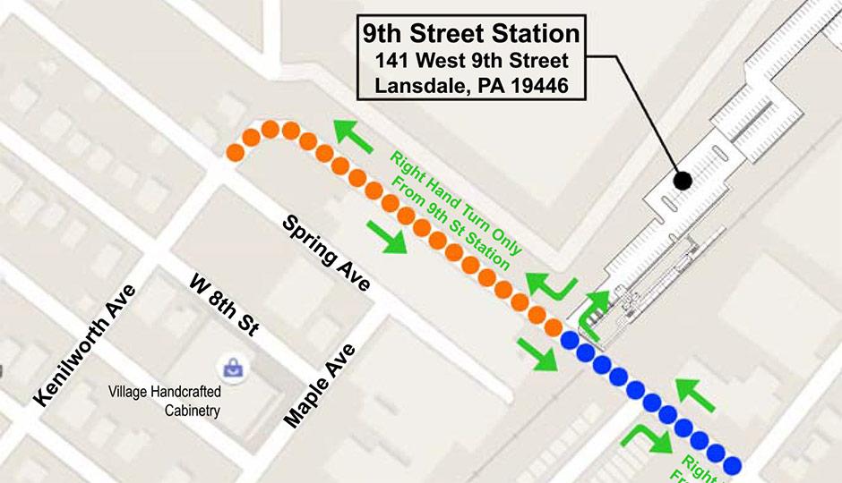 SEPTA - 9th Street Lansdale stop