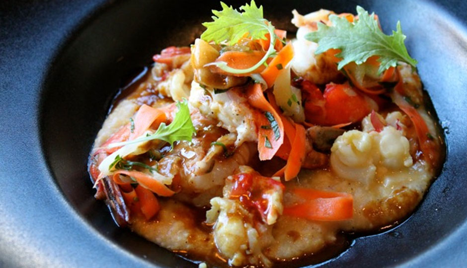 Carolina Shrimp and Anson Mills lobster grits | Photo by Emily Teel
