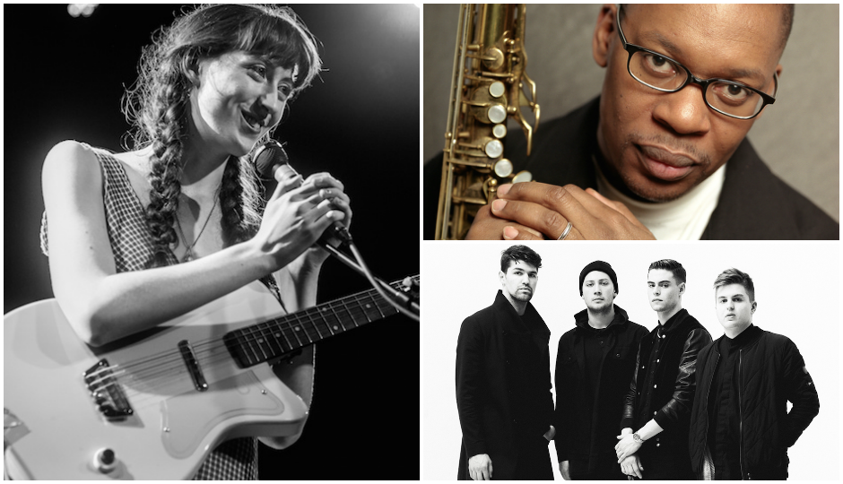 Starting left going clockwise: Frankie Cosmos (TK), Ravi Coltrane and Beat Connection all play this weekend in Philly.