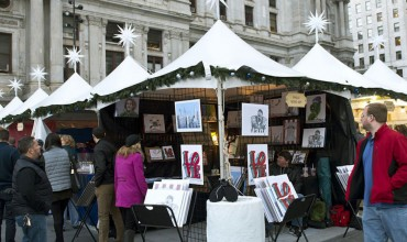 The Made in Philadelphia pop-up market is open now at Dilworth Park.   Photo courtesy of Center City District Parks