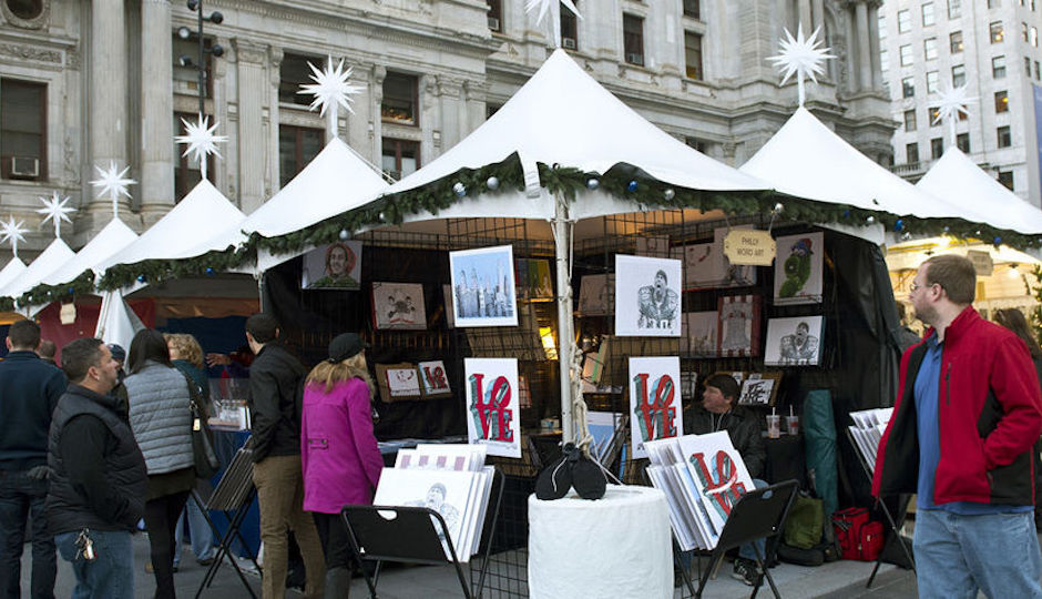 The Made in Philadelphia pop-up market is open now at Dilworth Park. | Photo courtesy of Center City District Parks