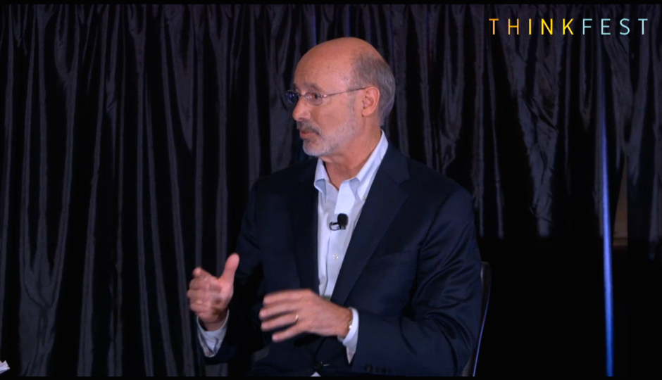 Tom Wolf at ThinkFest on November 6th.