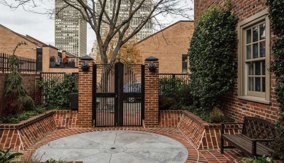 There's the gated entry on Delancey Street   TREND images via BHHS Fox & Roach. Center City–Walnut