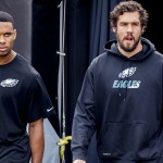 Jordan Matthews and Sam Bradford. (Jeff Fusco)
