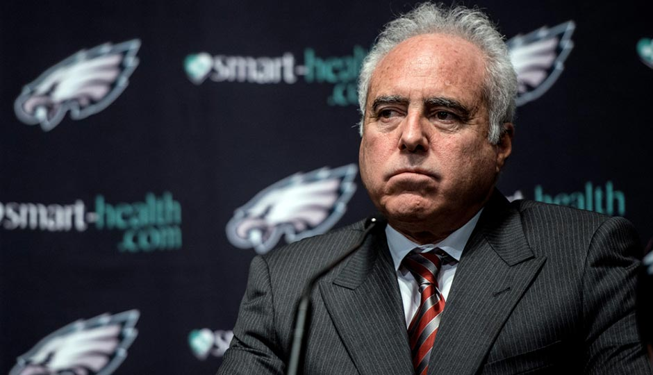 Jeffrey Lurie at the 2013 press conference announcing the hiring of Chip Kelly. Photo | Jeff Fusco