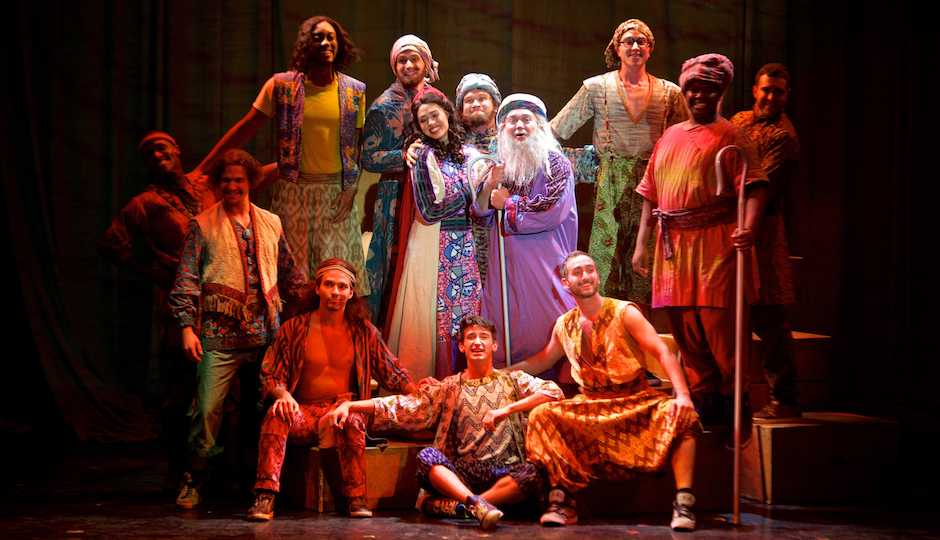 """The cast of """"Joseph…"""" brings their magical coat of many colors to the Merriam Theatre this week."""