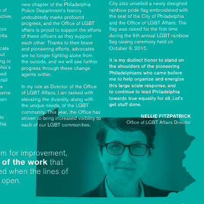 Nellie Fitzpatrick was featured in the HRC's MEI publication.