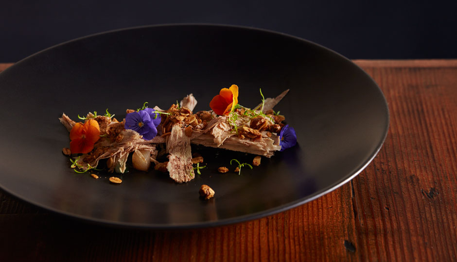 Cocoa-cured foie gras at Laurel | Jason Varney