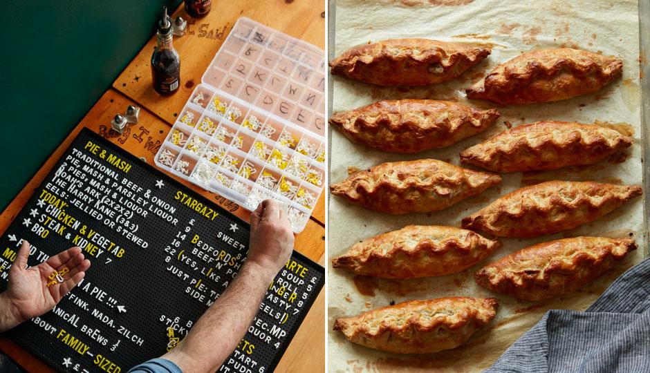 The menu board and Cornish pastries at Stargazy | Jason Varney