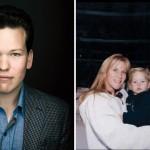 Left: Garrett Getlin Snider (photography by Justin James Muir). Right: Lindy, Garrett, and Ed Snider, circa 1997 (courtesy of Garrett Snider)