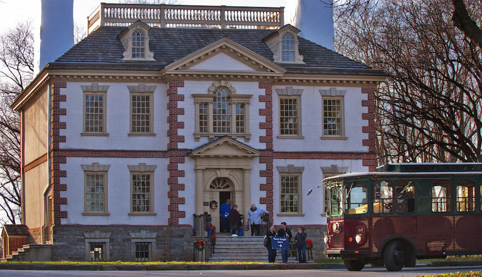 This week, take a holiday trolley tour to the different mansions in Fairmount Park.   Photo by R. Kennedy