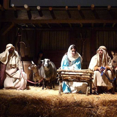 A King of Prussia church is putting a spin on the Christmas Eve service with a live nativity.