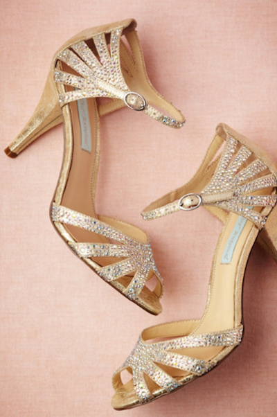The Champagne Sparkle Heels can be all yours.