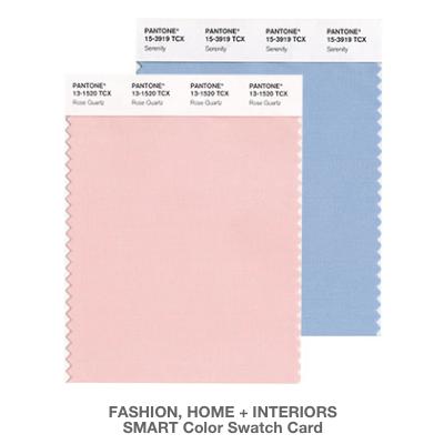 Pantone's Colors of 2016: Rose Quarts and Serenity.