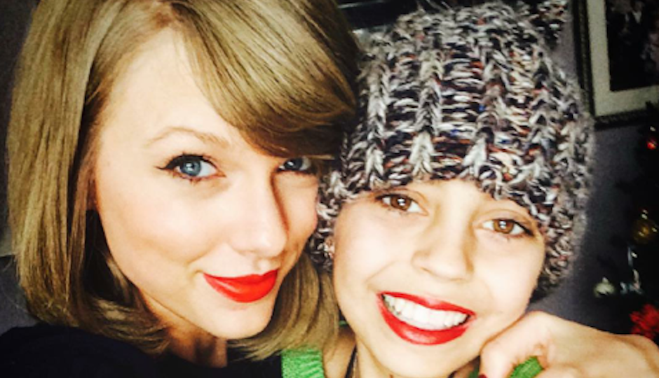 Taylor Swift with Delaney Clements. From @delaneyy.bug on Instagram.