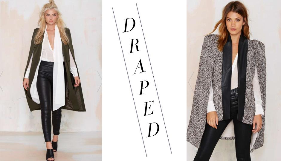 coats DRAPED