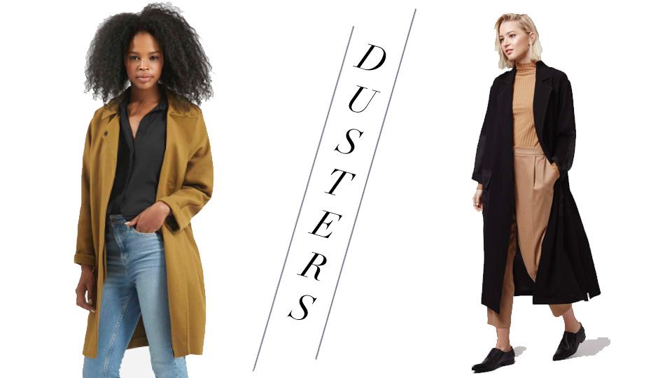 coats dusters