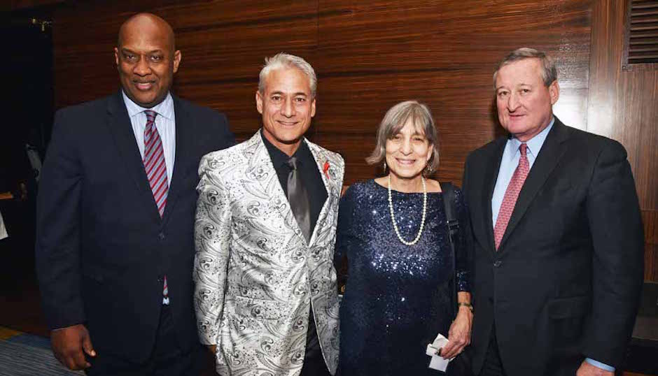 Rep. Dwight Evans, Greg Louganis, Olympic diver, LGBT-rights activist and author, Jane Shullm Philadelphia FIGHT's Executive Director and Mayor elect Jim Kenney.