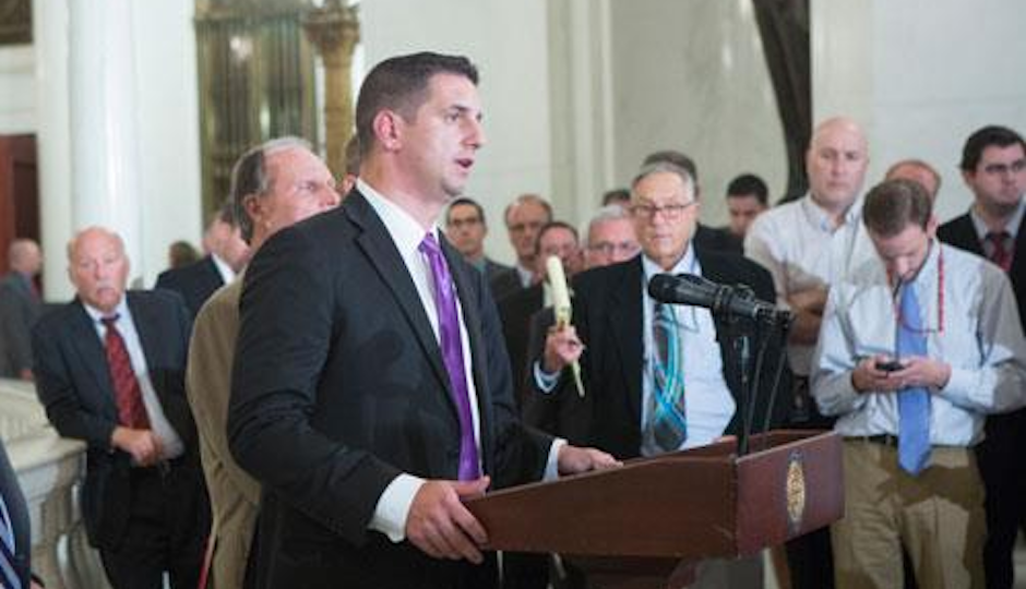 Pa. House Majority Leader Dave Reed discusses the state budget situation in October.