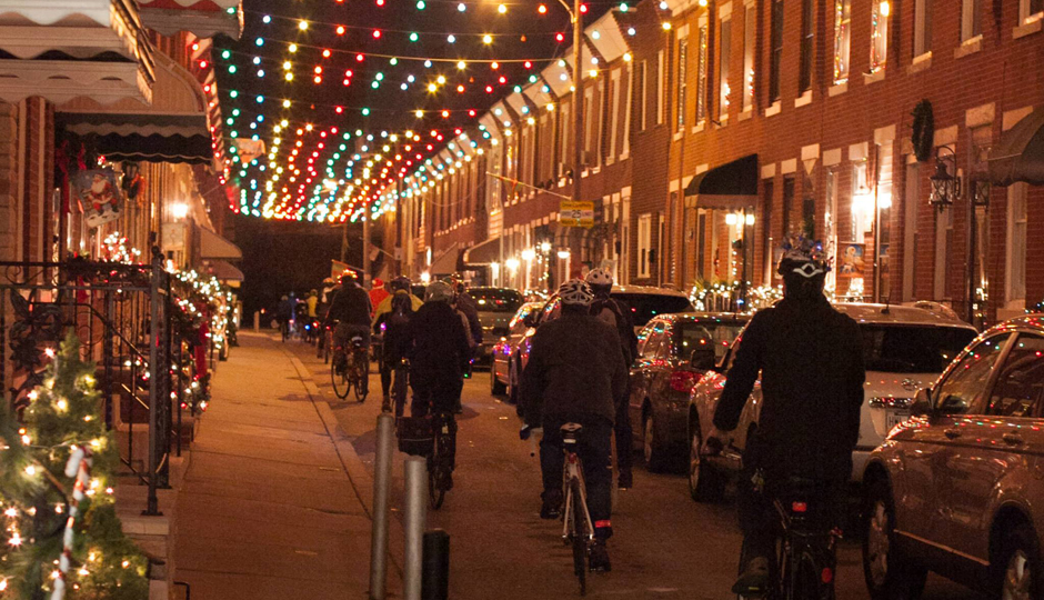 Holiday Lights Bike Ride | Photo via Bicycle Coalition of Greater Philadelphia/Facebook