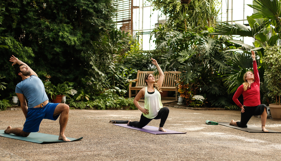 Yoga at the Fairmount Park Horticulture Center | Photo by Casey Kallen Photography