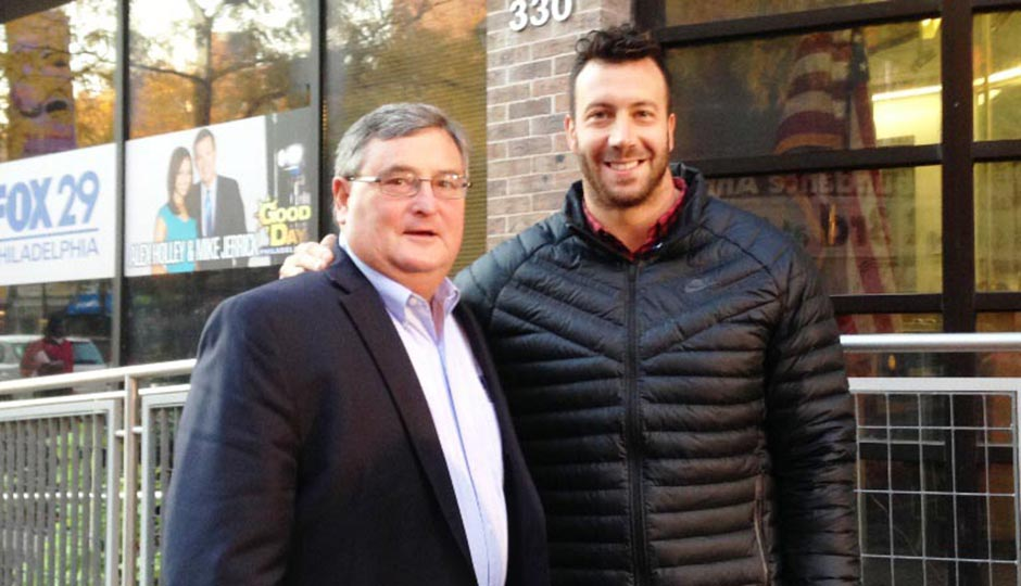 Joe Casey (left) and Connor Barwin. Photo | Septa.org.