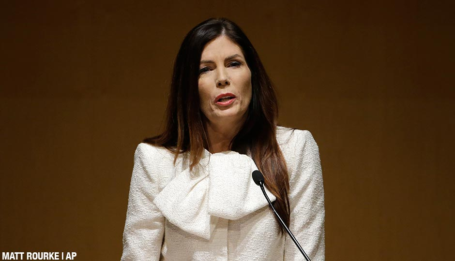 Pennsylvania Attorney General Kathleen Kane speaks during a news conference Tuesday, Dec. 1, 2015, at the National Constitution Center in Philadelphia.