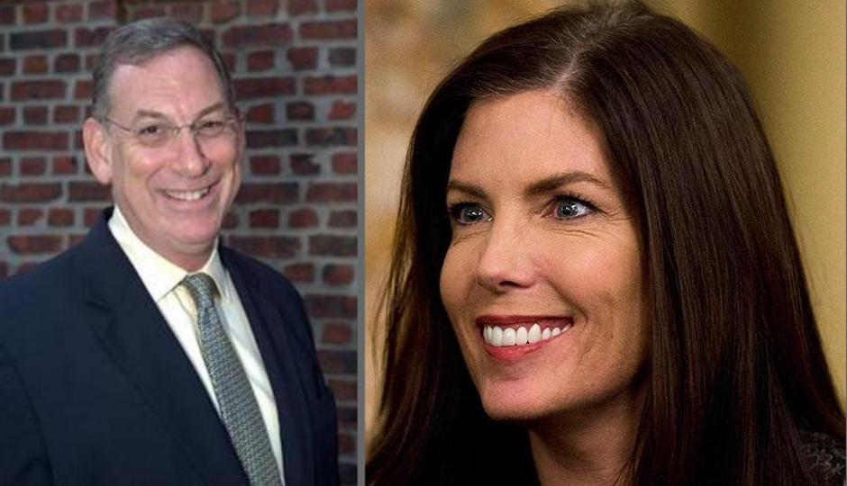 Sam Katz, left. Kathleen Kane, right. (Kane photo, AP)