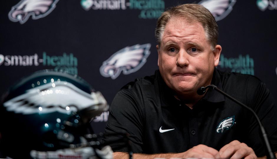 Chip Kelly at a 2013 press conference announcing his hiring as Eagles head coach. Photo | Jeff Fusco
