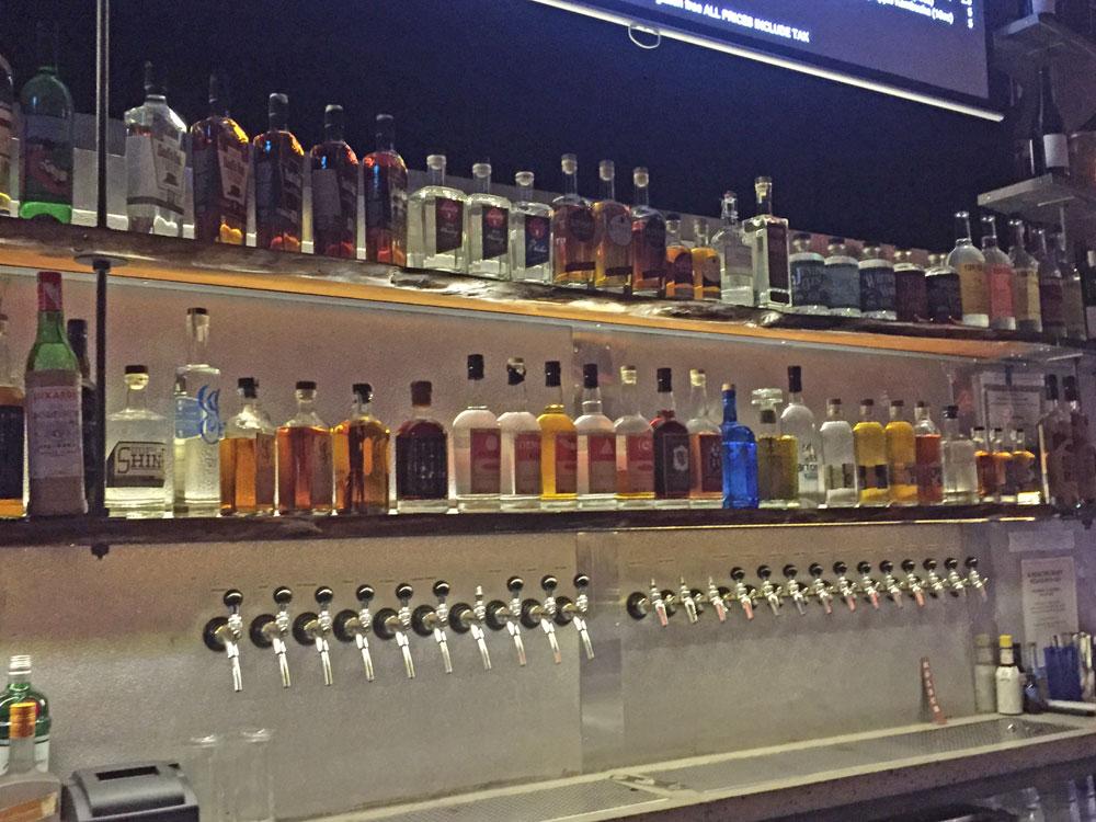 24 taps, 52 local spirits.