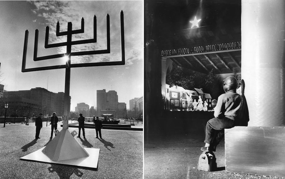 Menorah photo by Jack Tinney. Special Collections Research Center, Temple University Libraries, Philadelphia, PA.