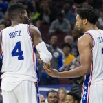 Whether or not Nerlens Noel and Jahlil Okafor can succeed playing together is a key question for the Sixers this season | Bill Streicher-USA TODAY Sports