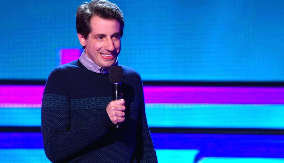 Comedian Dan Naturman performs at Helium Night Club on New Year's Eve.