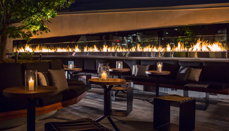 The swanky Stratus Rooftop Lounge at Hotel Monaco.