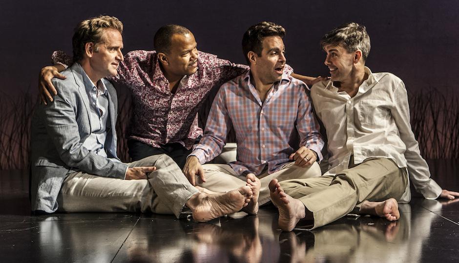 "Malcolm Gets, Jerry Dixon, Mario Cantone and Matt McGrath in ""Steve"" | Photo by Monique Carboni"