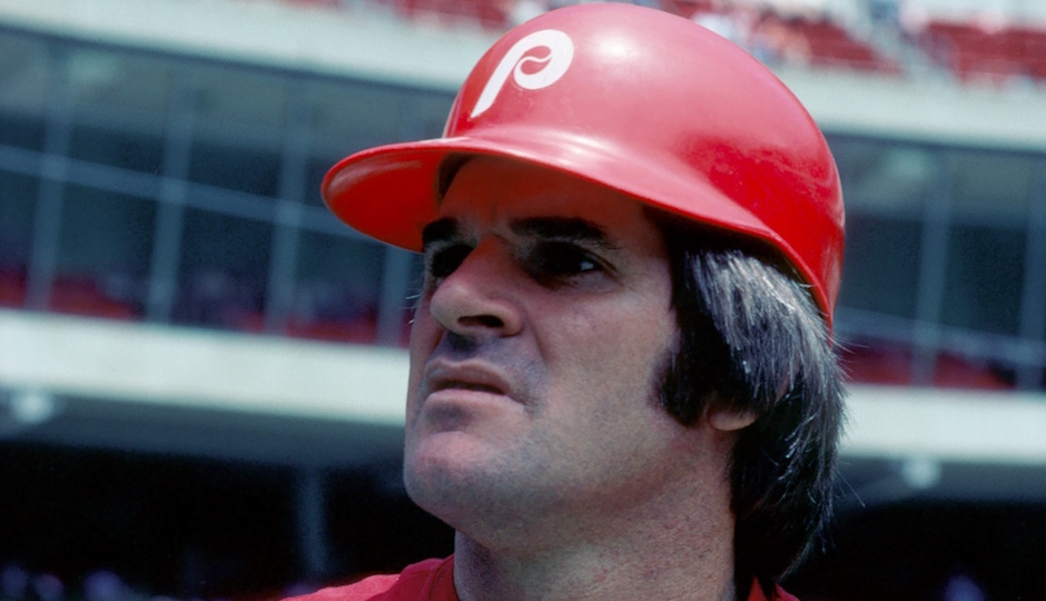 Jun 1979; Cincinnati, OH, USA; Pete Rose of the Philadelphia Phillies during the 1979 season at Riverfront Stadium prior to his game against the Cincinnati Reds. | Photo By Malcolm Emmons-USA TODAY