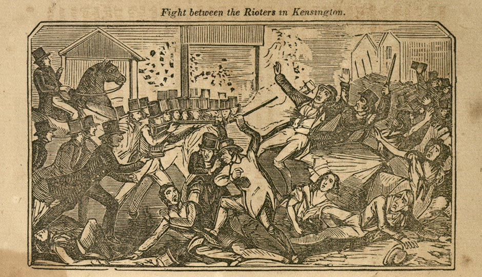 From Chaos in the Streets! The Philadelphia Riots of 1844 collection, used under a Creative Commons license.