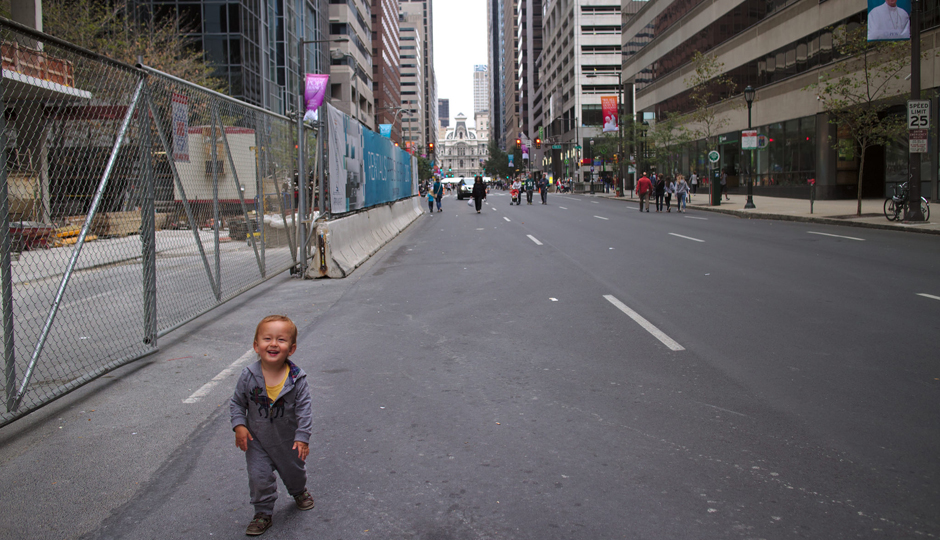 Car-free streets during the Pope visit | Photo by Flickr user Scott Sherrill-Mix