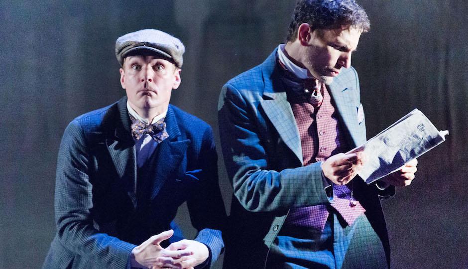Henry Clarke as Dr. Watson and Ron Menzel as Sherlock Holmes   Photo by Mark Gavin