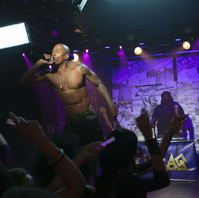 """Nick Cannon as Chi-Raq in Spike Lee's """"Chi-Raq"""""""