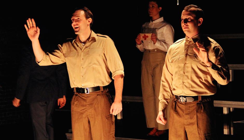 """TK and TK in Pig Iron Theatre's """"Gentlemen Volunteers."""""""