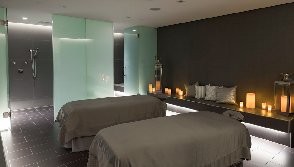 The couples massage room at The Rittenhouse SPa & Club. Photo by Courtney Apple
