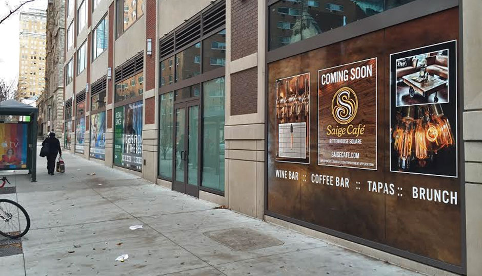 Saige Cafe is coming to 2116 Chestnut.
