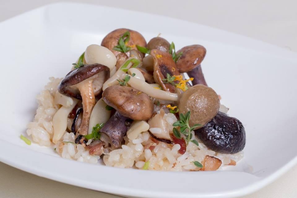 suga Five Treasure Sticky Rice with Kennett Square Mushrooms
