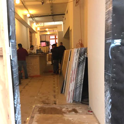 A look at the construction at SUGA on December 1st.