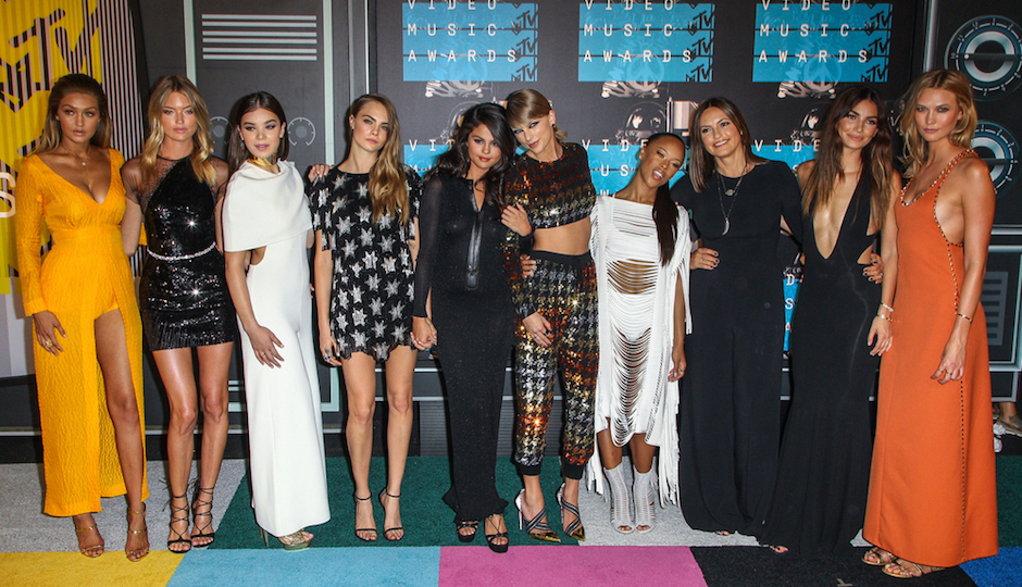 Taylor Swift and her girl squad | Press Line Photos / Shutterstock.com
