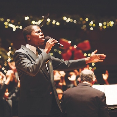 Choirs from all over the region get together for a little gospel celebration at the Kimmel on December 15th.