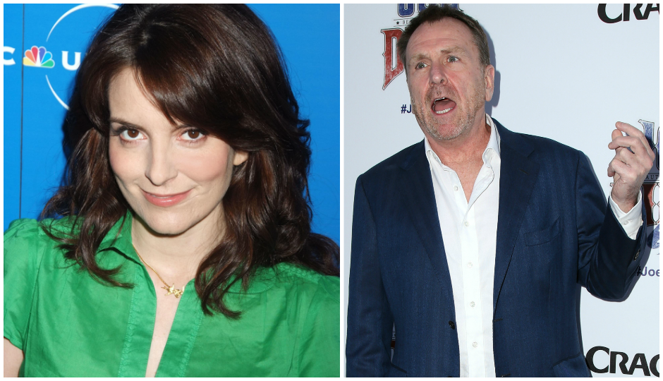 Tina Fey (TK) and Colin Quinn (TK)